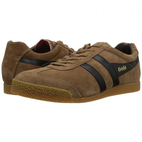 ゴーラ ハリアー 茶 ブラウン メンズ 男性用 靴 メンズ靴 スニーカー 【 GOLA HARRIER TOBACCO BLACK DARK BROWN 】
