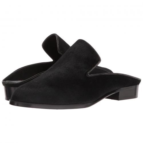 黒 ブラック ポニー レディース 女性用 ミュール 靴 レディース靴 【 BLACK CLERGERIE ALICIOP PONY 】