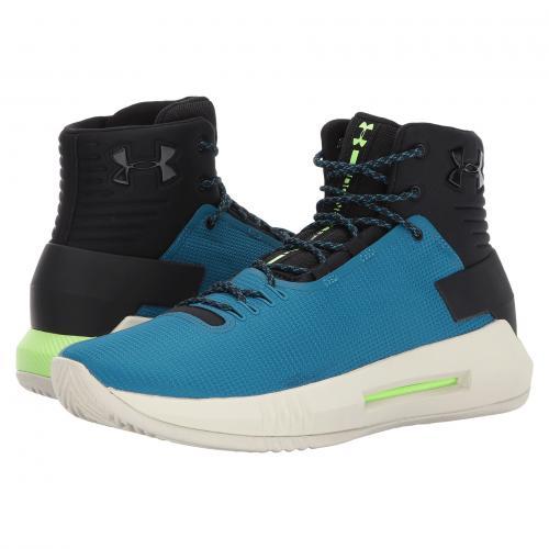 アンダー アーマー ウーア ドライブ ライム アンダーアーマー メンズ 男性用 メンズ靴 靴 スニーカー 【 UNDER ARMOUR UA DRIVE 4 BLACK BAYOU BLUE QUIRKY LIME 】