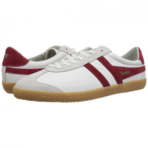 ゴーラ スペシャリスト レザー メンズ 男性用 スニーカー 靴 メンズ靴 【 GOLA SPECIALIST LEATHER WHITE DEEP RED GUM 】