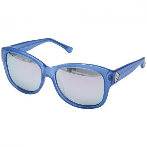 ゲス シャイニー 青 ブルー レディース 女性用 サングラス 小物 眼鏡 ブランド雑貨 バッグ 【 BLUE GUESS GF0259 SHINY 】