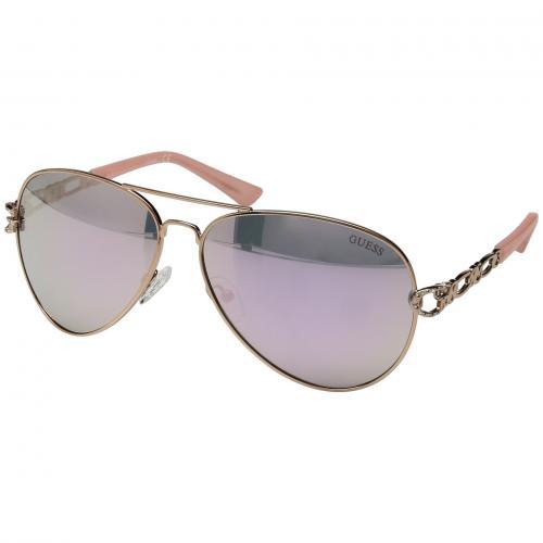 ゲス ローズ ゴールド 金 ミラー レンズ レディース 女性用 バッグ 眼鏡 ブランド雑貨 サングラス 小物 【 ROSE GUESS GF6044 GOLD MIRROR LENS 】