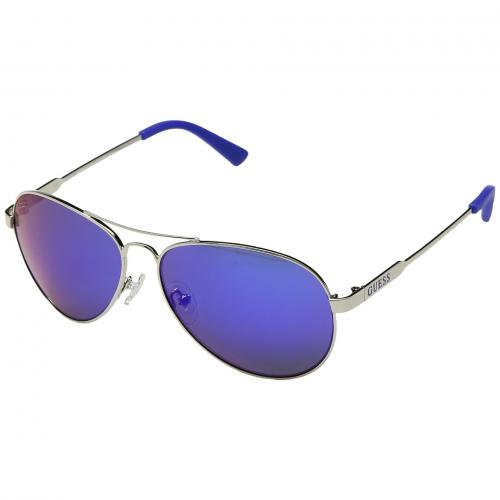 ゲス シャイニー ミラー レディース 女性用 バッグ 小物 眼鏡 サングラス ブランド雑貨 【 GUESS GU7228 SHINY SILVER BLUE MIRROR 】