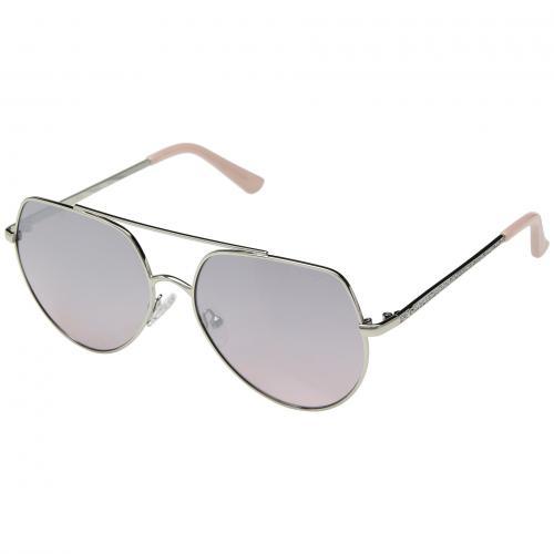 ゲス シャイニー フラッシュ レンズ レディース 女性用 サングラス 眼鏡 小物 ブランド雑貨 バッグ 【 GUESS GF6057 SHINY SILVER PINK GRADIENT FLASH LENS 】