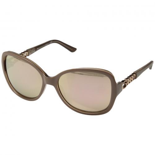 ゲス シャイニー ミラー レディース 女性用 バッグ サングラス ブランド雑貨 眼鏡 小物 【 GUESS GU7452 SHINY PINK BROWN MIRROR 】