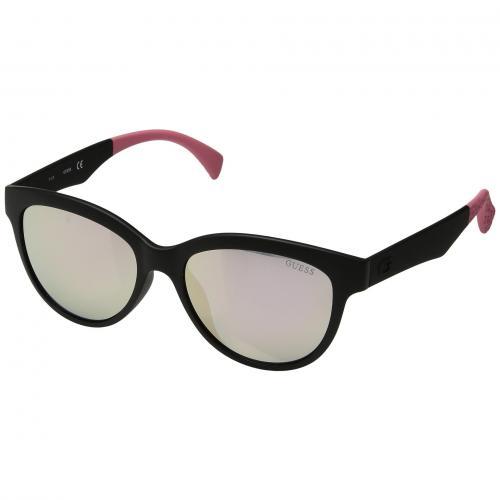 ゲス マット ミラー レディース 女性用 眼鏡 ブランド雑貨 バッグ サングラス 小物 【 GUESS GU7433 MATTE BLACK SMOKE MIRROR 】