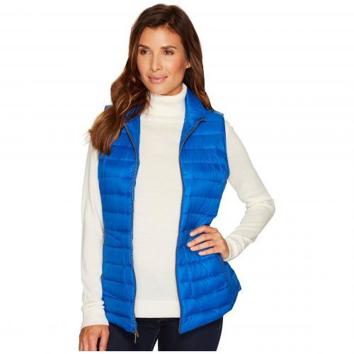 ジップ フロント ベスト ブライト 青 ブルー レディース 女性用 レディースファッション トップス 【 BLUE PENDLETON ZIP FRONT VEST BRIGHT 】