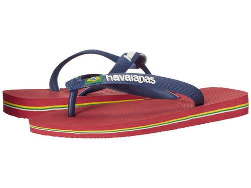 ハワイアナス ブラジル ロゴ ユニセックス フリップ フロップ 赤 レッド レディース 女性用 靴 サンダル 【 HAVAIANAS BRASIL LOGO UNISEX FLIP FLOPS RED 】
