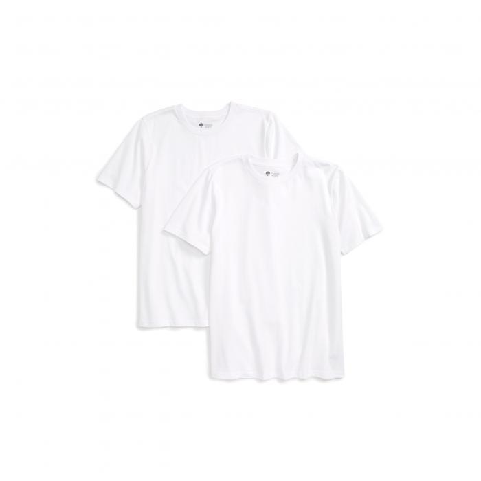 タッカー テイト 2パック クルーネック Tシャツ 白 ホワイト + トップス 半袖 ベビー キッズ マタニティ カットソー 【 TUCKER TATE 2PACK CREWNECK TSHIRTS WHITE 】