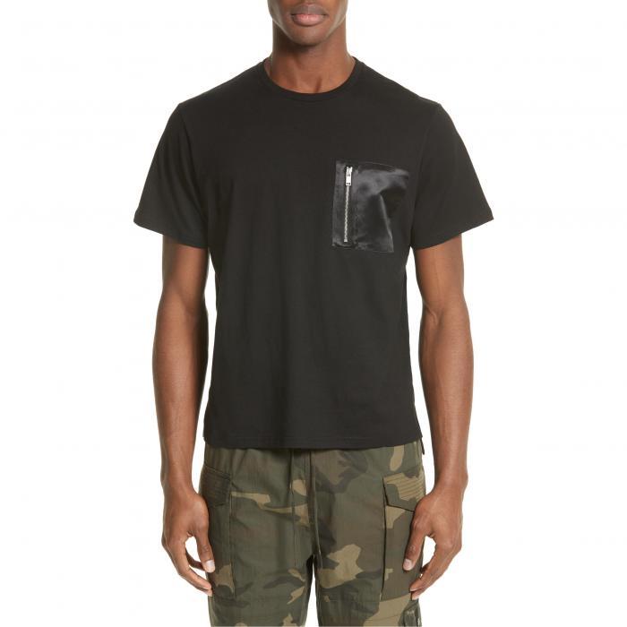 ジップ ポケット Tシャツ 黒 ブラック & トップス 半袖 カットソー メンズファッション 【 BLACK OVADIA SONS ZIP POCKET TSHIRT 】