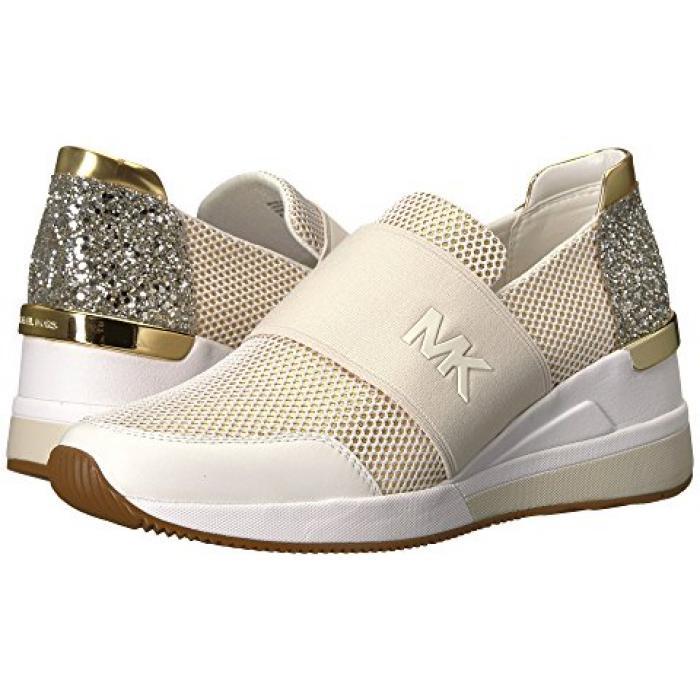 マイケル コース フェリックス トレーナー メタリック グリッター メンズ 男性用 メンズ靴 靴 【 MICHAEL KORS FELIX TRAINER OPTIC GOLD METALLIC NAPPA NET MESH CHUNKY GLITTER 】