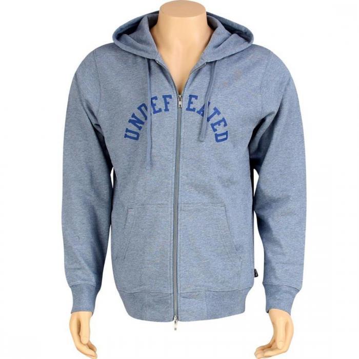 ジップ アップ フーディー パーカー 青 ブルー ジャケット ベスト メンズファッション トップス 【 BLUE UNDEFEATED ZIP UP HOODY II 】