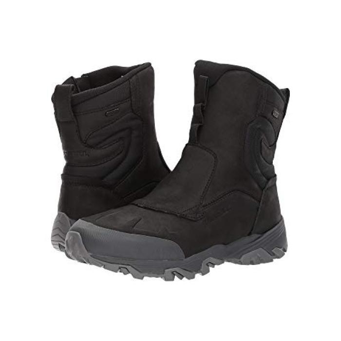 """ジップ ポーラー ウォータープルーフ 防水 黒 ブラック ICE+ 8"""" メンズ 男性用 ブーツ 靴 【 BLACK MERRELL COLDPACK ZIP POLAR WATERPROOF 】"""