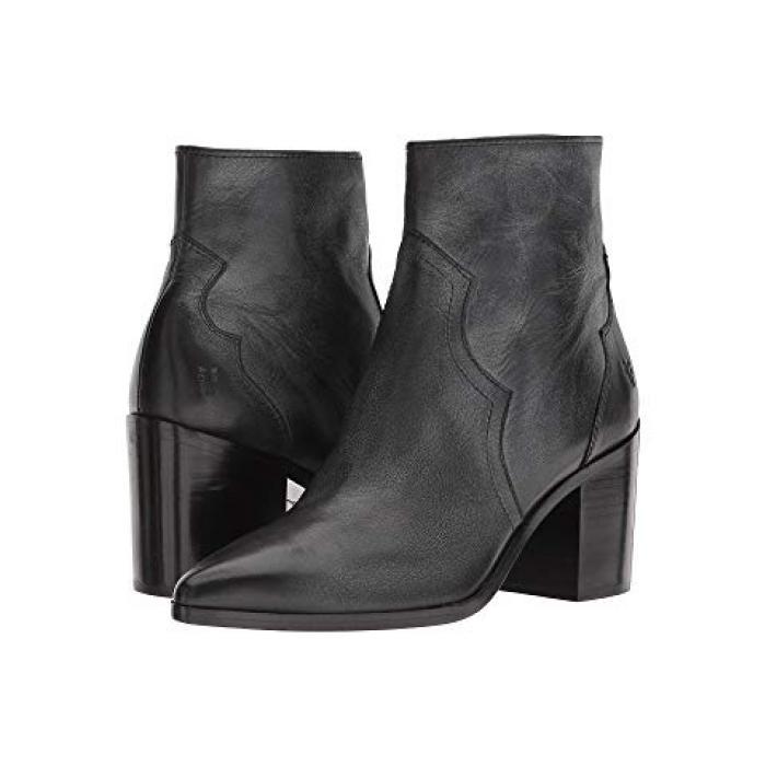 フライ フリン ショーツ ハーフパンツ インサイド ジップ 黒 ブラック ポリッシュ ソフト フル グレイン レザー レディース 女性用 ブーツ 靴 【 BLACK FRYE FLYNN SHORT INSIDE ZIP POLISHED SOFT FULL GRAIN L
