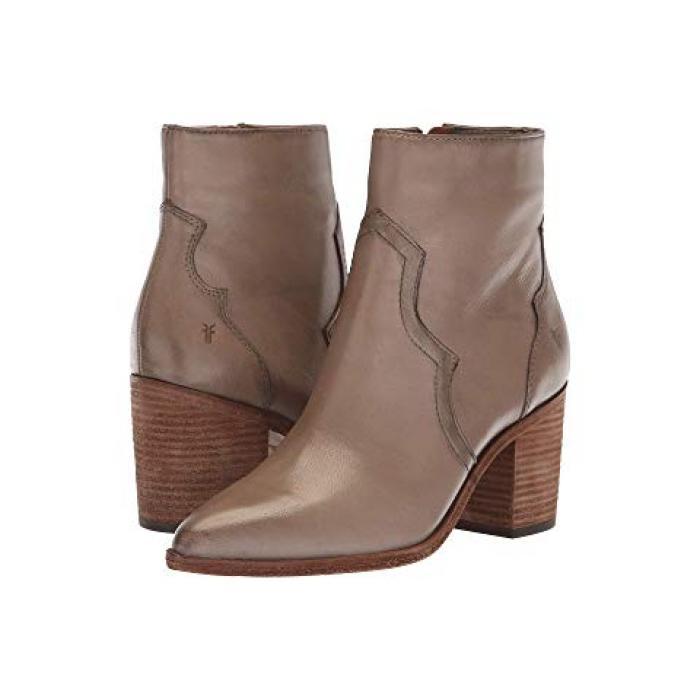 フライ フリン ショーツ ハーフパンツ インサイド ジップ GRAY灰色 グレイ ポリッシュ ソフト フル グレイン レディース 女性用 靴 ブーツ 【 GREY FRYE FLYNN SHORT INSIDE ZIP POLISHED SOFT FULL GRAIN 】