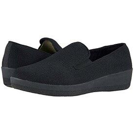 ローファー オール 黒 ブラック レディース 女性用 靴 【 BLACK FITFLOP SUPERSKATE UBERKNIT LOAFERS ALL 】
