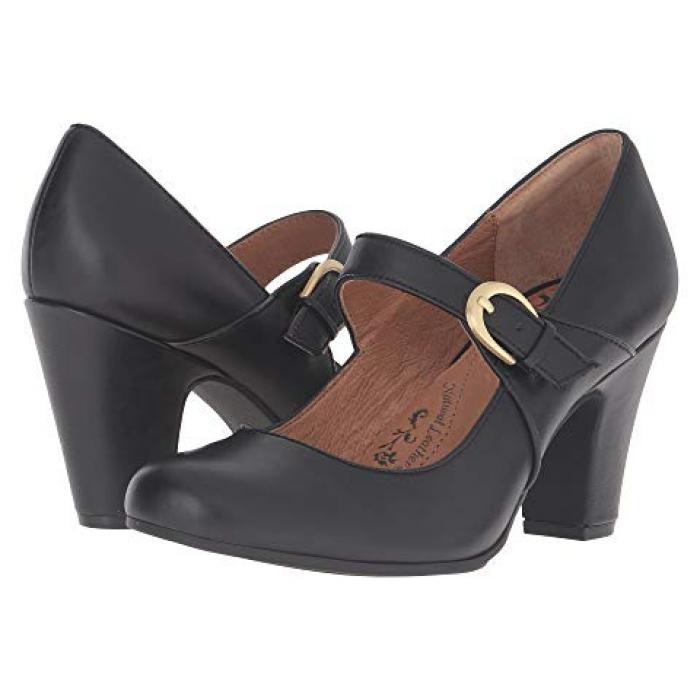ミランダ 黒 ブラック カウ レディース 女性用 靴 パンプス 【 BLACK SOFFT MIRANDA COW QUILIN 】