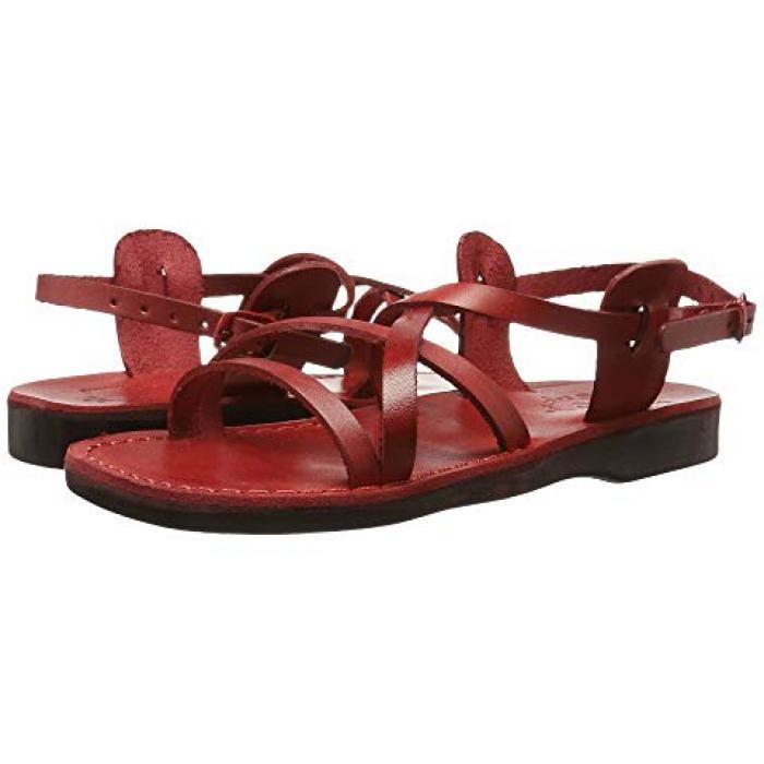 サンダル レディース 女性用 赤 レッド WOメンズ 男性用 靴 メンズ靴 【 JERUSALEM SANDALS TZIPPORA RED 】
