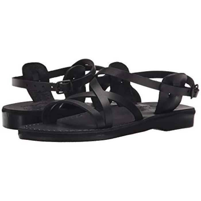 サンダル レディース 女性用 黒 ブラック WOメンズ 男性用 靴 メンズ靴 【 BLACK JERUSALEM SANDALS TZIPPORA 】