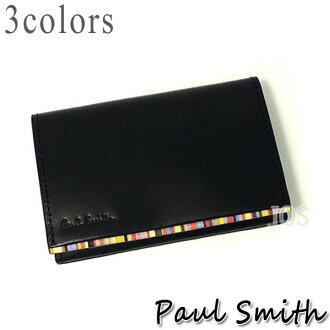 保罗 · 史密斯名片到卡钱包男人保罗史密斯保罗史密斯条纹点卡所有颜色 P054NN
