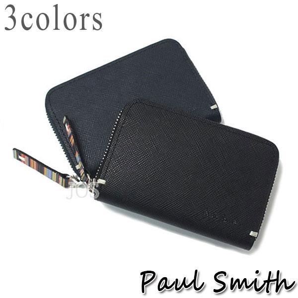 ポールスミス 財布 メンズ Paul Smith ジップストローグレイン コインケース 全3色 PSK860 送料無料 代引き料有料 消費税込