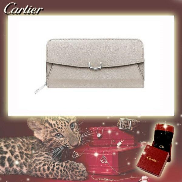 C ドゥ カルティエ 2 Cartier インターナショナル ワレット 長財布 ラウンドジップ ムーンストーン