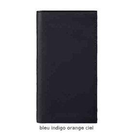Hermes エルメス 財布 メンズ Citizen Twill long combined wallet 長財布 bleu indigo/orange/ciel 並行輸入