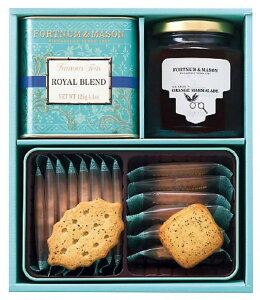 セット商品 フォートナム アンド メイソン FORTNUM AND MASON 紅茶 ティー 焼菓子 ジャム 詰合せ + 国産あられ2袋