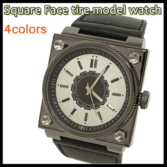 Jos Brand Select Shop Watch Watches Ladies Mens Square Face Tire