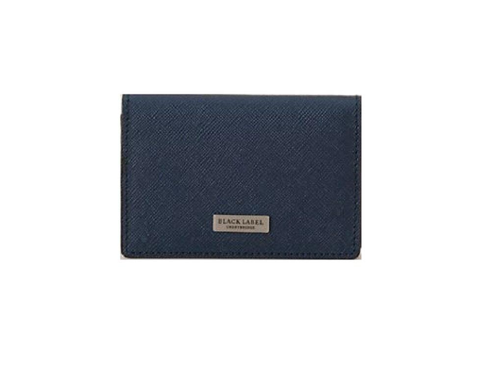 ブラックレーベル 財布 BURBERRY BLACK LABEL カラーエンボスクレストブリッジチェックカードケース 名刺入れ ネイビー
