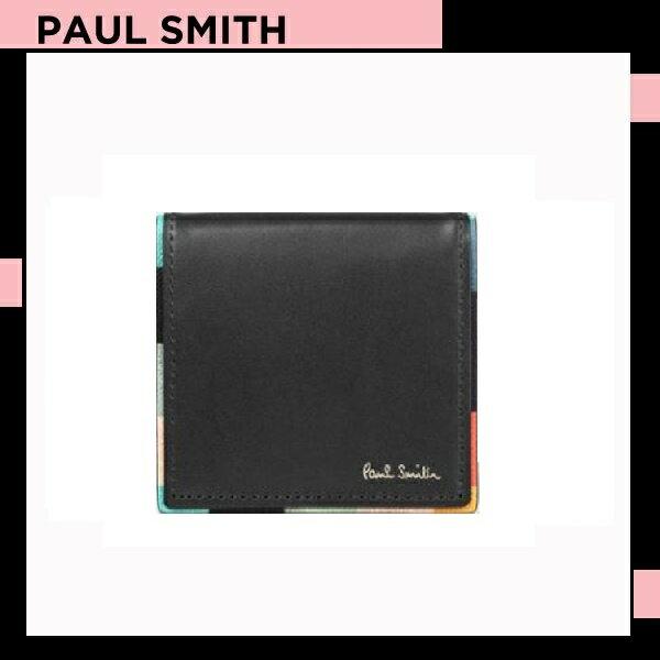 ポールスミス Paul Smith メンズ 財布 長財布 アーティスト ストライプ コインケース 小銭入れ ブラック 送料無料 代引き料有料 消費税込