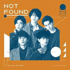 [枚数限定][限定盤]NOT FOUND(初回限定盤B)[初回仕様]/Sexy Zone[CD+DVD]【返品種別A】