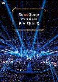 【送料無料】Sexy Zone LIVE TOUR 2019 PAGES(DVD)/Sexy Zone[DVD]【返品種別A】