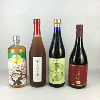 梅酒セット 送料無料 九州の焼酎蔵元が造る 梅酒 飲み比べ 4本セット
