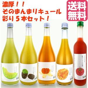 リキュール 果実そのまんまリキュール 5本セット 果汁たっぷり! フルーツ ギフト プレゼント