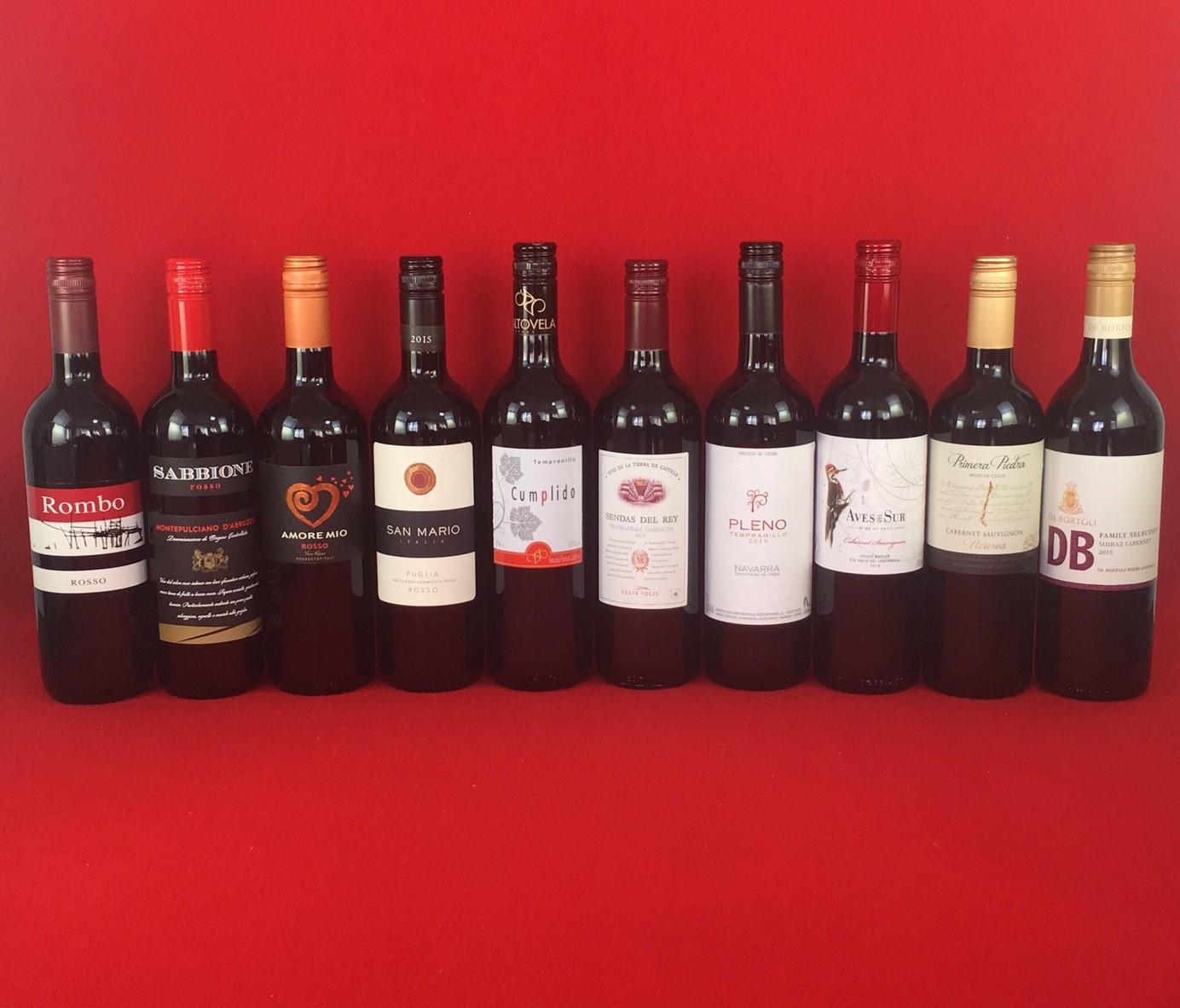 ワインセット 赤ワイン 送料無料 コスパ最高のデイリーワイン 赤ワイン 10本セット Ver.2