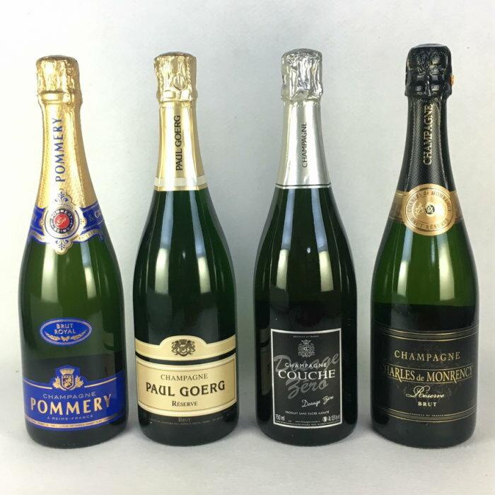 ワインセット スパークリングワイン 送料無料 フランス シャンパン 飲み比べ 4本セット