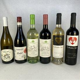 ワインセット 自然と身体に優しく造られた ヨーロッパ オーガニック 赤 白 ワイン 飲み比べ 6本セット 送料無料