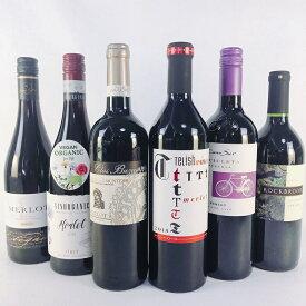ワインセット 赤 テロワールの違いを飲み比べ 国際品種メルロー750ml 6本セット 送料無料 ギフト 人気 おすすめ ランキング