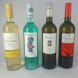 ワインセット 白ワイン スペイン ワイン名産地 飲み比べ 4本 セット ナバーラ バレンシア ルエダ 数量限定 送料無料