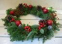 クリスマスフレッシュリース(M)【30cm リース フレッシュ オーナメント クリスマスリース モミ 木の実 自然素材 ナ…