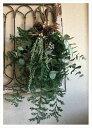 ナチュラルスワッグ【60cm フレッシュ オーナメント クリスマスリース 自然素材 ナチュラル ハンドメイド 玄関 飾り …