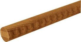 木製 手すり 2m 丸棒 室内 マツ六 35mmアッシュ丸棒 ディンプル付 Mブラウン BD-112