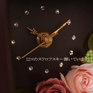プリザーブドフラワー・時計・置き時計・花・花時計