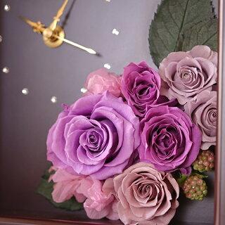 プリザーブドフラワー、花時計、スワロフスキー