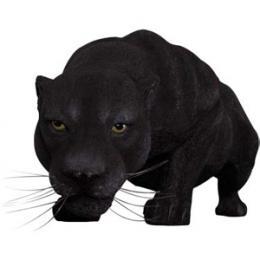 置物動物インテリア置物インテリア 動物ヒョウ黒豹の跳躍 / Black Panther 【あす楽対応】
