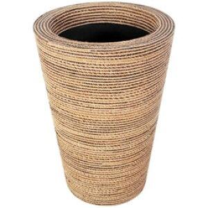 プランターオブジェ タンブラー型プランター(縄編柄) / Round Planter 60x80cm縄で編み込んだような模様が民芸品にも見える縦型プランター