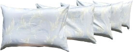 5枚 枕カバー サラサ 約43×63cm BL 送料無料 日本製 寝室 清潔 安心 旅館 業務用 ベッド用 綿 お買い得 メーカー直販 洗える まくらかばー おしゃれ かわいい ピロケース ピローケース コットン セット ホテル ファスナー オールシーズン タツミ