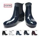 【あす楽】ハンター HUNTER 長靴 WFP1012NRG ショートブーツ リファインド ミッド ヒール グロス レディース WOMENS ORIGINAL REFINED MID HEEL GLOSS