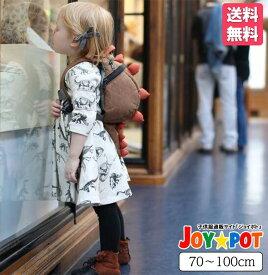 キッズ ベビー服 ワンピース 海外 子供服 フリル 恐竜 5分袖 女の子 秋 冬 春 ジュニア おそろい 洋服 オシャレ 70cm 80cm 90cm 100cm